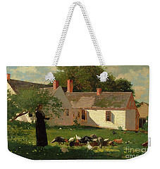 Farmyard Scene Weekender Tote Bag by Winslow Homer