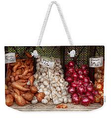 Food - Vegetable - Sweet Potatoes-garlic- And Onions - Yum  Weekender Tote Bag by Mike Savad