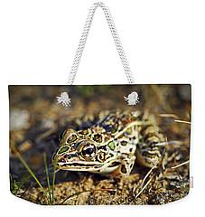Frog Weekender Tote Bag by Elena Elisseeva