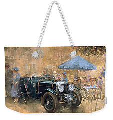 Garden Party With The Bentley Weekender Tote Bag by Peter Miller