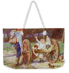 Happy As The Days Are Long Weekender Tote Bag by Frederick Morgan