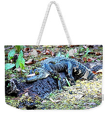 Hard Day In The Swamp - Digital Art Weekender Tote Bag by Carol Groenen