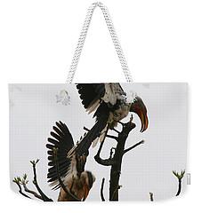Hornbill Courtship Weekender Tote Bag by Bruce J Robinson