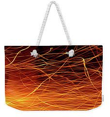 Hot Sparks Weekender Tote Bag by Carlos Caetano