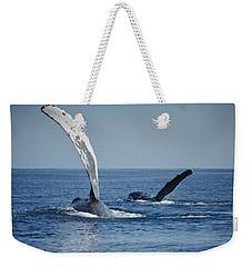 Humpback Whale Pectoral Slap Maui Weekender Tote Bag by Flip Nicklin