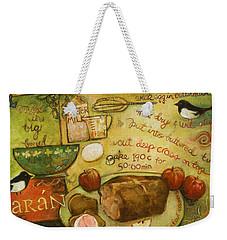 Irish Brown Bread Weekender Tote Bag by Jen Norton