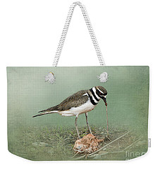 Killdeer And Worm Weekender Tote Bag by Betty LaRue