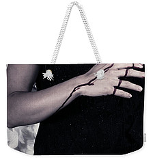 Lady With Blood And Heart Weekender Tote Bag by Joana Kruse