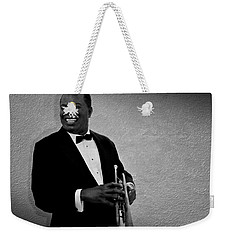 Louis Armstrong Bw Weekender Tote Bag by David Dehner