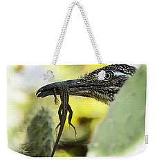 Lunch With A Roadrunner  Weekender Tote Bag by Saija  Lehtonen