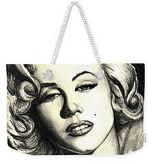 Marilyn Monroe Weekender Tote Bag by Debbie DeWitt