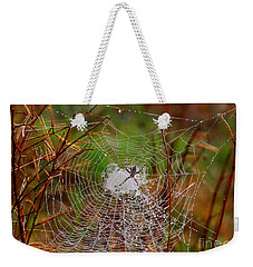 Marsh Spider Web Weekender Tote Bag by Carol Groenen