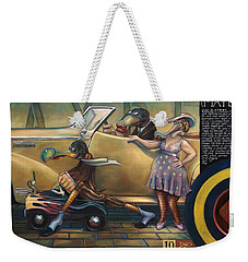 Maybe Maybe Not Weekender Tote Bag by Patrick Anthony Pierson