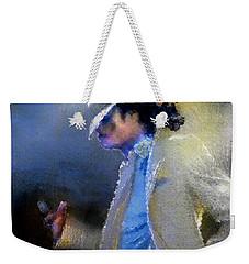Michael Jackson 10 Weekender Tote Bag by Miki De Goodaboom
