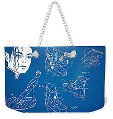Michael Jackson Anti-gravity Shoe Patent Artwork Weekender Tote Bag by Nikki Marie Smith