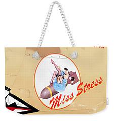 Miss Stress Weekender Tote Bag by David Lee Thompson