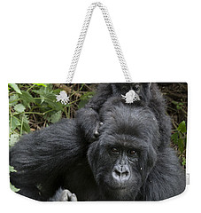 Mountain Gorilla Mother And 1.5yr Old Weekender Tote Bag by Suzi Eszterhas