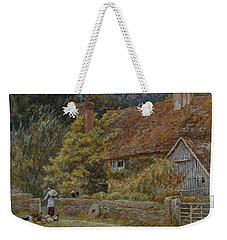Netley Farm Shere Surrey Weekender Tote Bag by Helen Allingham