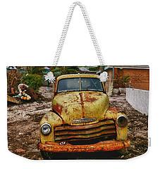Old Yellow Truck Florida Weekender Tote Bag by Garry Gay