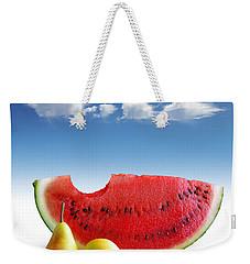 Pears And Melon Weekender Tote Bag by Carlos Caetano