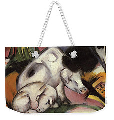 Pigs Weekender Tote Bag by Franz Marc