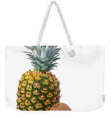 Pineapple And Kiwis Weekender Tote Bag by Carlos Caetano