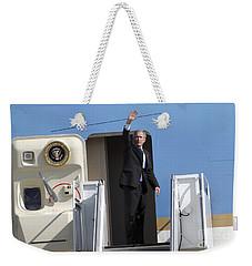 President George Bush Waves Good-bye Weekender Tote Bag by Stocktrek Images