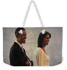 President Obama And First Lady Weekender Tote Bag by David Dehner