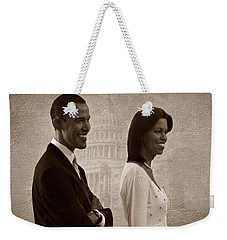 President Obama And First Lady S Weekender Tote Bag by David Dehner