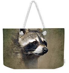 Raccoon 1 Weekender Tote Bag by Betty LaRue