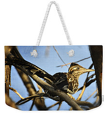 Roadrunner Up A Tree Weekender Tote Bag by Saija  Lehtonen