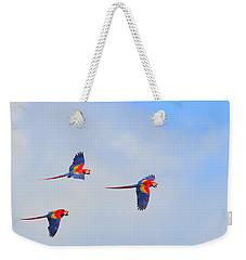 Scarlet Macaws Weekender Tote Bag by Tony Beck