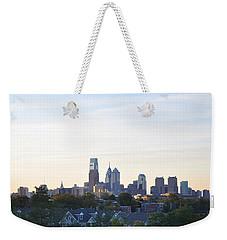 Skyline View Of Philadelphia Weekender Tote Bag by Bill Cannon