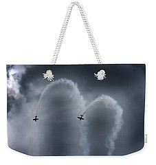 Smoke Signals Weekender Tote Bag by Betsy Knapp