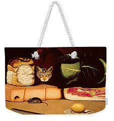 Still Life With Cat And Mouse Weekender Tote Bag by Anonymous