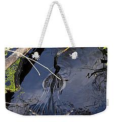 Swimming Bird Weekender Tote Bag by David Lee Thompson
