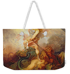 The Angel Binding Satan Weekender Tote Bag by Philip James de Loutherbourg