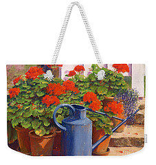 The Blue Watering Can Weekender Tote Bag by Anthony Rule