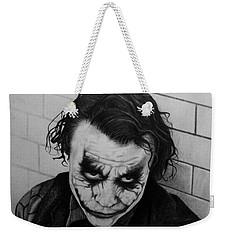 The Joker Weekender Tote Bag by Carlos Velasquez Art