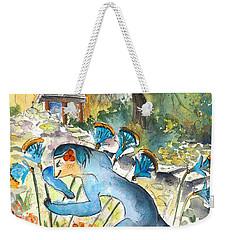 The Minotaur In Knossos Weekender Tote Bag by Miki De Goodaboom