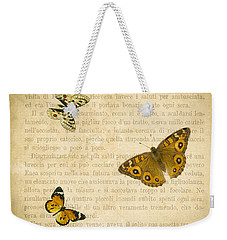 The Printed Page 1 Weekender Tote Bag by Jan Bickerton