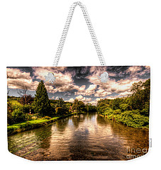 The River Exe At Bickleigh Weekender Tote Bag by Rob Hawkins