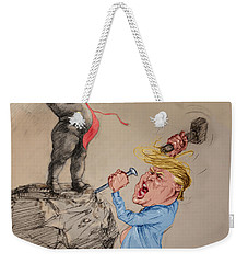 Trump Shaping Up The Future Weekender Tote Bag by Ylli Haruni