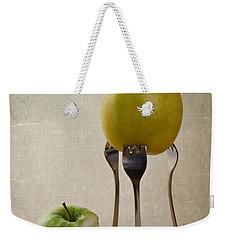 Two Apples Weekender Tote Bag by Nailia Schwarz