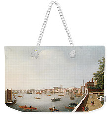 View Of The River Thames From The Adelphi Terrace  Weekender Tote Bag by William James
