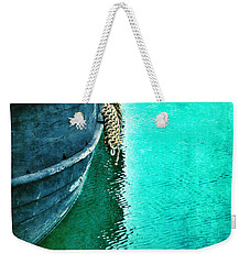 Vintage Ship Weekender Tote Bag by Jill Battaglia