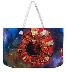 Wee Manhattan Planet - Artist Rendition Weekender Tote Bag by Nikki Marie Smith