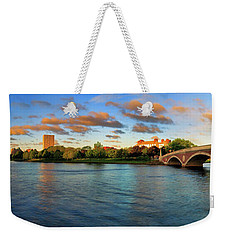 Weeks' Bridge Panorama Weekender Tote Bag by Rick Berk