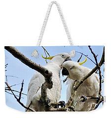 White Cockatoos Weekender Tote Bag by Kaye Menner