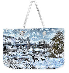 Winter Wonderland Weekender Tote Bag by Lourry Legarde